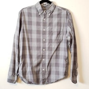 Merona Gingham Mens Long Sleeve Button Up